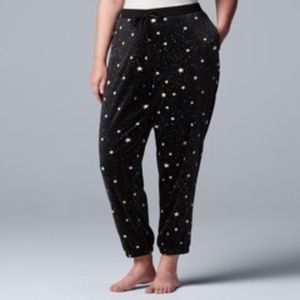 Simply Vera Wang XXL Star Print Cozy PJ Pants